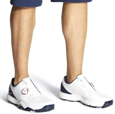 Adidas Adipower 4Orged Boa Mens Golf Shoes Cloud White/Collegiate Red/Collegiate Navy UK 12