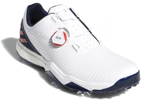 Adidas Adipower 4Orged Boa Mens Golf Shoes Cloud White/Collegiate Red/Collegiate Navy UK 11,5