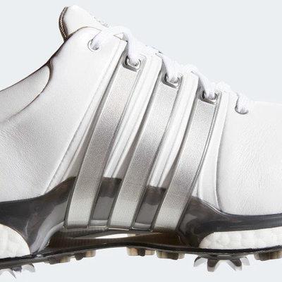 Adidas Tour360 XT Mens Golf Shoes Cloud White/Silver Metallic/Dark Silver Metallic UK 8