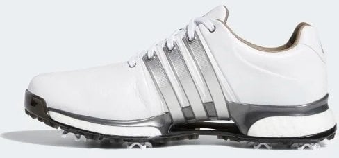 Adidas Tour360 XT Mens Golf Shoes Cloud White/Silver Metallic/Dark Silver Metallic UK 10,5