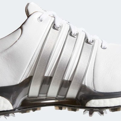 Adidas Tour360 XT Mens Golf Shoes Cloud White/Silver Metallic/Dark Silver Metallic UK 10,5