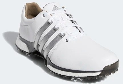 Adidas Tour360 XT Mens Golf Shoes Cloud White/Silver Metallic/Dark Silver Metallic UK 11,5
