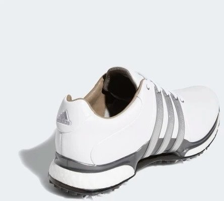 Adidas Tour360 XT Mens Golf Shoes Cloud White/Silver Metallic/Dark Silver Metallic UK 9,5