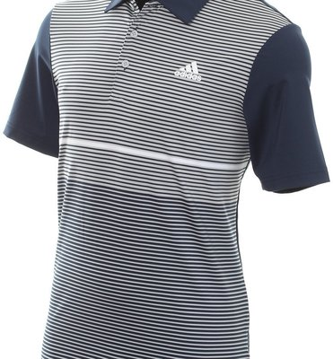 Adidas Ultimate365 Color Block Mens Polo Shirt Collegiate Navy/Grey Two S