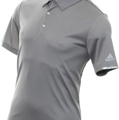 Adidas Climachill Core Heather Mens Polo Shirt Grey Heathered XL