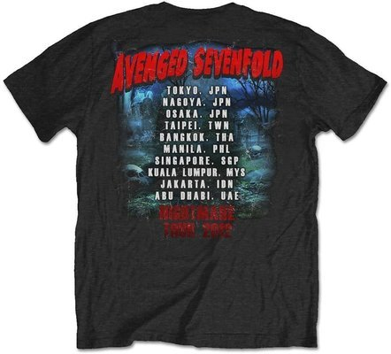 Avenged Sevenfold Unisex Tee Buried Alive Tour 2012 (Back Print) M