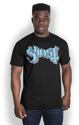 Ghost Keyline Logo Unisex T-Shirt Blue/Grey XL