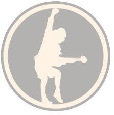 AC/DC Unisex Fashion Tee Logo & Angus (Applique Motifs) Navy M