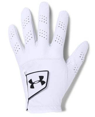 Under Armour Spieth Tour Mens Golf Glove White Right Hand for Left Handed Golfers ML