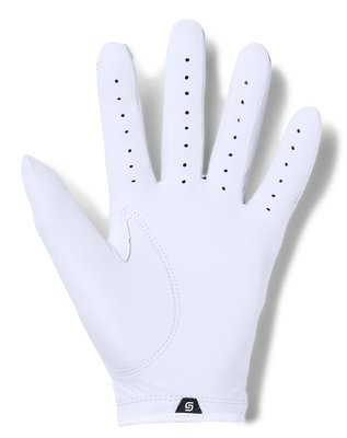 Under Armour Spieth Tour Mens Golf Glove White Left Hand for Right Handed Golfers ML