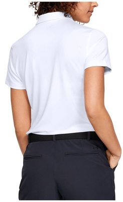 Under Armour Zinger Short Sleeve Womens Polo Shirt White M