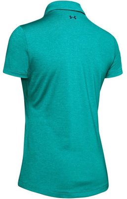 Under Armour Zinger Short Sleeve Womens Polo Shirt Breathtaking Blue M