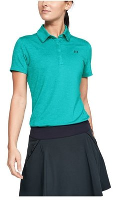 Under Armour Zinger Short Sleeve Womens Polo Shirt Breathtaking Blue L
