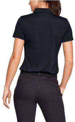 Under Armour Zinger Short Sleeve Womens Polo Shirt Black XS