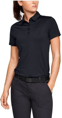 Under Armour Zinger Short Sleeve Womens Polo Shirt Black L