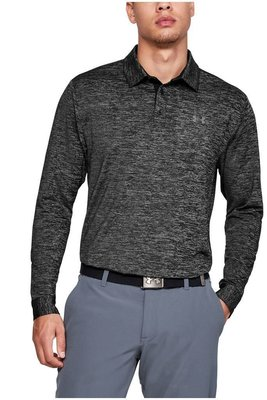 Under Armour UA Long Sleeve Playoff 2.0 Mens Polo Shirt Black L