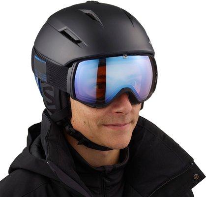 Salomon Pioneer C.Air Ski Helmet Black/Race Blue M 19/20
