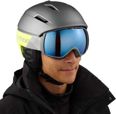 Salomon Pioneer C.Air Ski Helmet Shade Grey/Neon Yellow L 19/20
