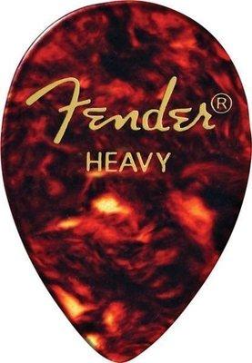 Fender 358 Shape Classic Celluloid Picks Shell Heavy 12 Pack