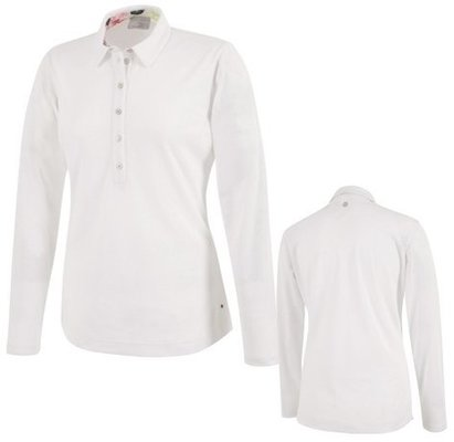 Galvin Green Melinda Ventil8 Long Sleeve Womens Polo Shirt White XS