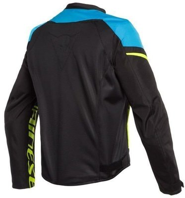 Dainese Bora Air Tex Jacket Black/Fire Blue/Fluo Yellow 48