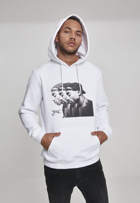 2Pac Faces Hoody White XL