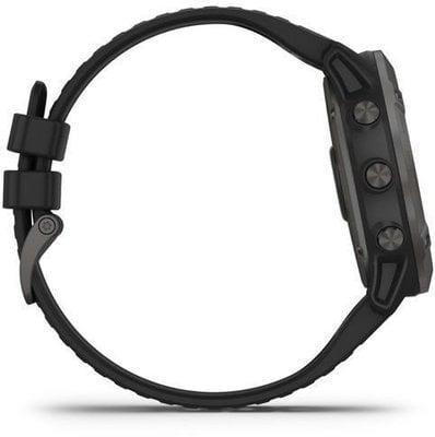 Garmin fénix 6X Pro Solar/Titanium Carbon Gray DLC/Black