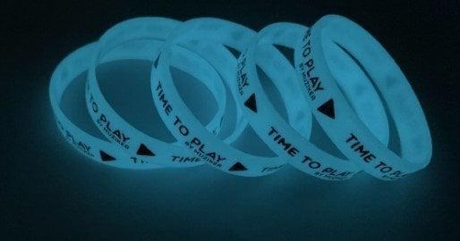 Muziker Wristband Glow in the Dark Blue