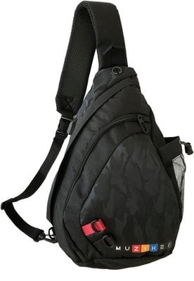 Muziker USB Crossbody Backpack Black