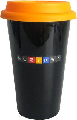 Muziker Ceramic Travel Cup Orange