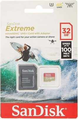 SanDisk Extreme microSDHC UHS-I Card 32 GB
