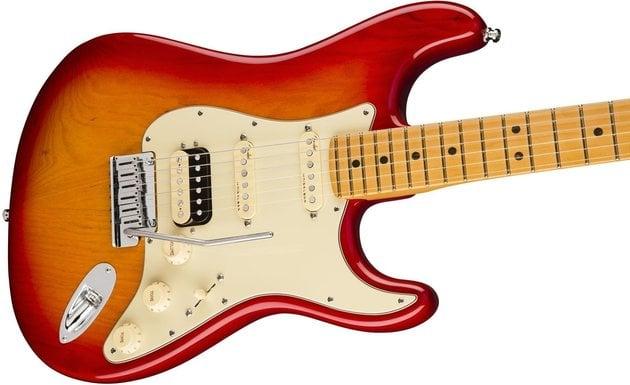 Fender American Ultra Stratocaster HSS MN Plasma Red Burst