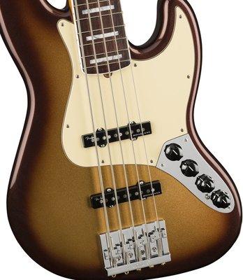 Fender American Ultra Jazz Bass V RW Mocha Burst