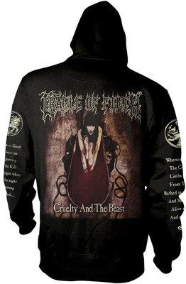 Cradle Of Filth Cruelty And The Beast Hooded Sweatshirt Zip M