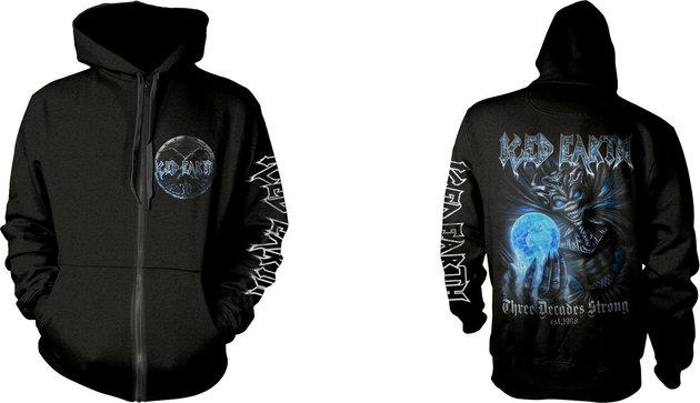 Iced Earth 30th Anniversary Hooded Sweatshirt Zip XL