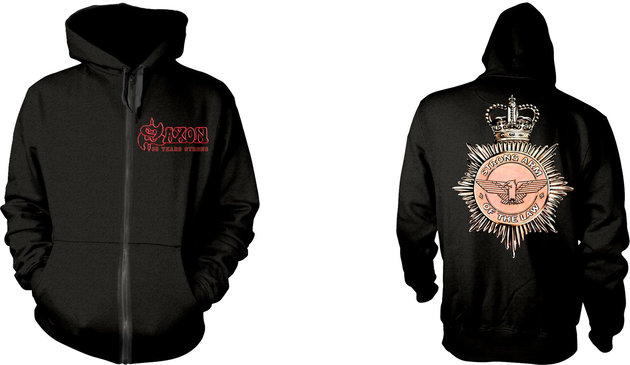 Saxon Strong Arm Of The Law Hooded Sweatshirt Zip S