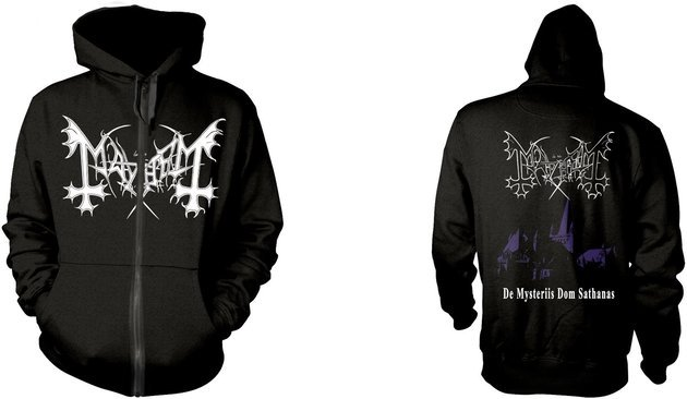 Mayhem De Mysteriis Dom Sathanas Hooded Sweatshirt Zip S