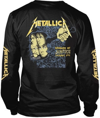 Metallica And Justice For All Black Long Sleeve Shirt M