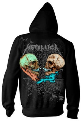 Metallica Sad But True Hooded Sweatshirt Zip L