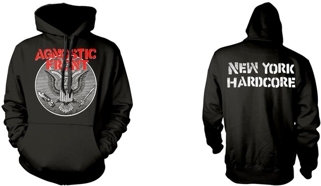 Agnostic Front Against All Eagle Hooded Sweatshirt M