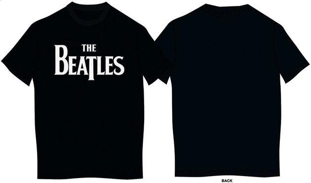 The Beatles Unisex Tee Drop T Logo M