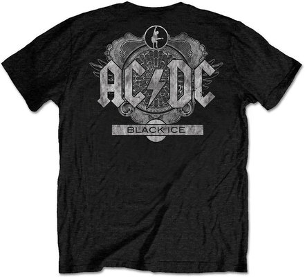 AC/DC Unisex Tee: Black Ice Black (Back Print/Retail Pack) M
