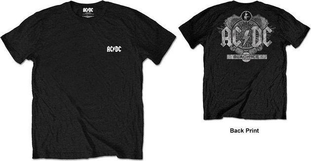 AC/DC Unisex Tee: Black Ice Black (Back Print/Retail Pack) XL