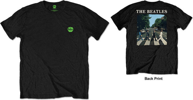 The Beatles Unisex Tee Abbey Road & Logo (Back Print/Retail Pack) L