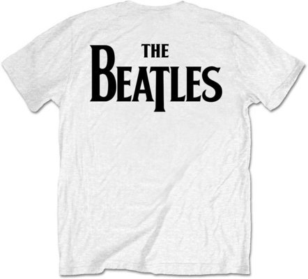 The Beatles Unisex Tee Drop T Logo White (Back Print/Retail Pack) XXL