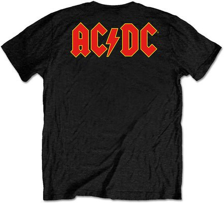 AC/DC Unisex Tee Logo Black (Back Print/Retail Pack) L