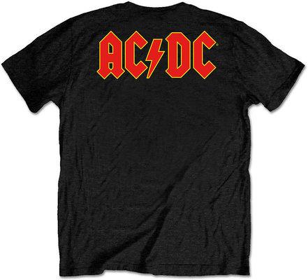 AC/DC Unisex Tee Logo Black (Back Print/Retail Pack) S