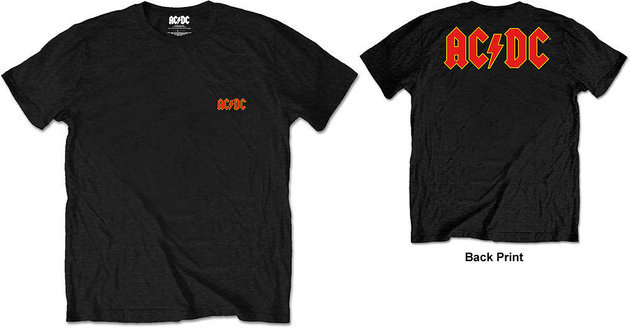 AC/DC Unisex Tee Logo Black (Back Print/Retail Pack) XXL