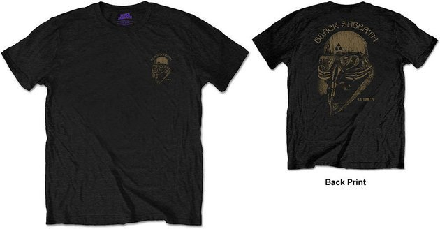 Black Sabbath Unisex Tee US Tour 78 (Back Print/Retail Pack) L
