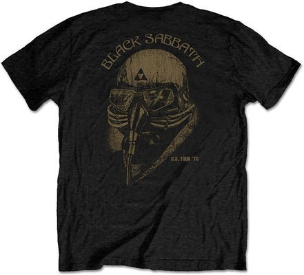 Black Sabbath Unisex Tee US Tour 78 (Back Print/Retail Pack) S